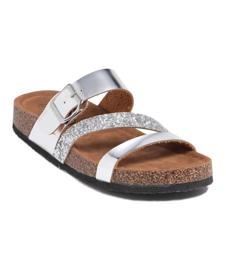Refresh Silver Glitter Leo Sandal