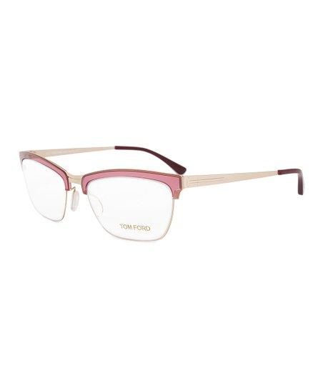 3b44fb3fa8f Tom Ford Bordeaux Matte Square Half-Rim Eyeglasses