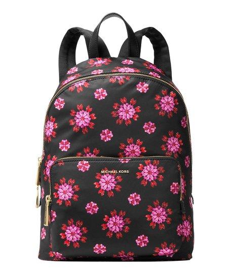8c59f291190f Michael Kors Black   Ultra Pink Floral Wythe Large Backpack