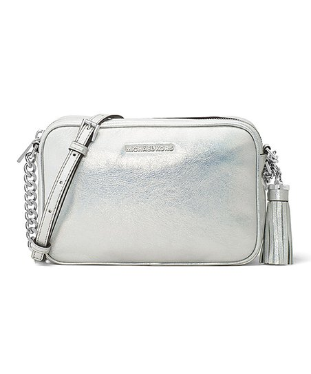 e4e66cdb19 love this product Silver Ginny Leather Crossbody Bag