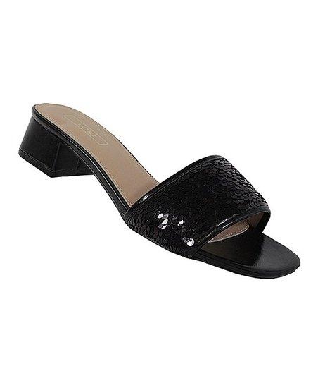 Black Sequin Sandal - Women | Best