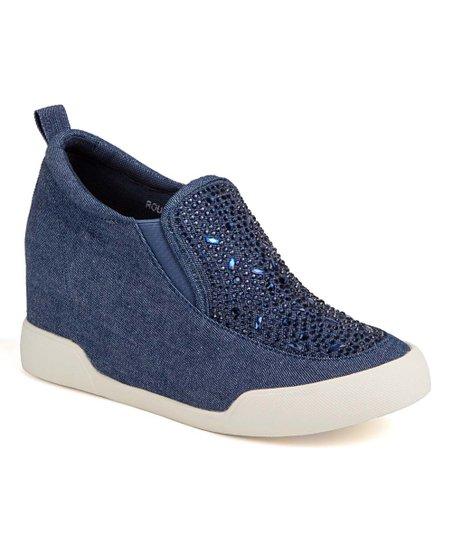 43335d717 Ninety Union Blue Denim   Rhinestone Rousso Platform Sneaker - Women ...
