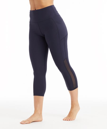 9498767de8cb1 love this product Midnight Blue Pocket High-Rise Tummy Control Crop Leggings  - Women