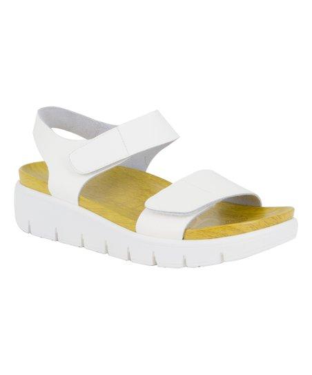 4643d0eab6abe2 Alegria Duo White Patent Playa Leather Sandal