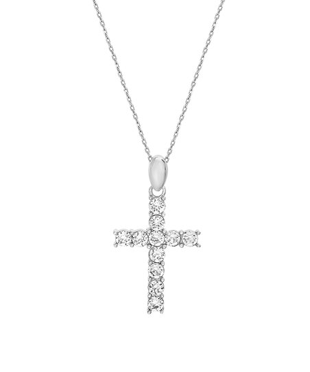 8188de7b6 love this product Sterling Silver Cross Pendant Necklace With Swarovski®  Crystals