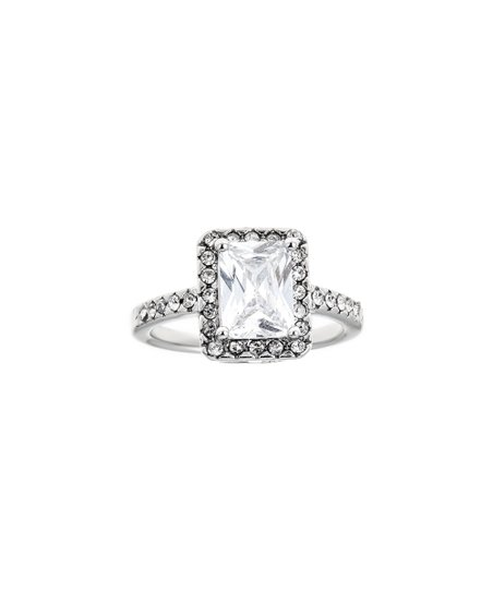 love this product Emerald-Cut Halo Ring With Swarovski® Crystals c64db94ba2