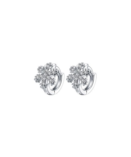 646d55e40 love this product Silvertone Snowflake Huggie Earrings With Swarovski®  Crystals