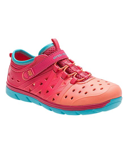 171e498897c Stride Rite Coral   Turquoise Made2Play Phibian Sneaker Sandal ...