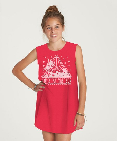 fb932aef2923 Billabong Passion Fruit Sunstruck Days Tee Shirt Dress - Girls | Zulily