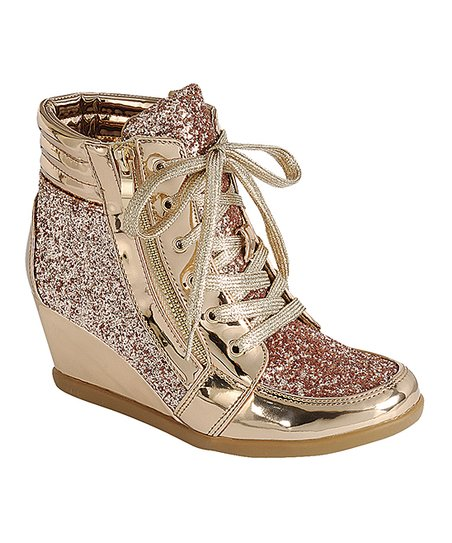 61fffbc2b812 love this product Rose Gold Peggy Wedge Sneaker - Women