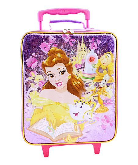 Bioworld Disney Princess Belle Pink Rolling Travel Case  4a52a8729