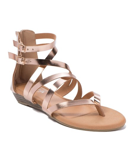 05b30c8ba926 love this product Rose Gold Elsa Gladiator Sandal - Women