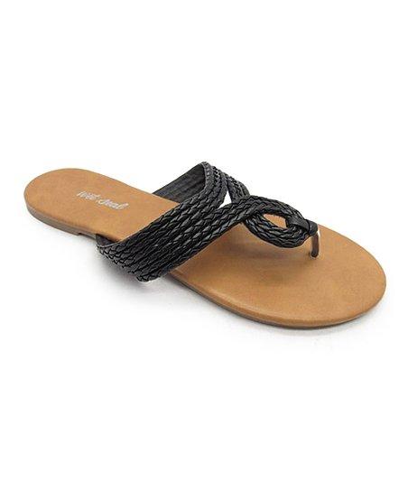Blue Suede Shoes Black Mozy Sandal