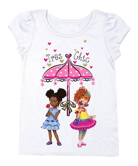 36ec5917 love this product Fancy Nancy White 'Très Chic' Cap-Sleeve Tee - Toddler &  Girls