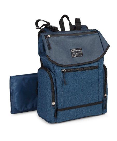 Blue Echo Backpack Diaper Bag