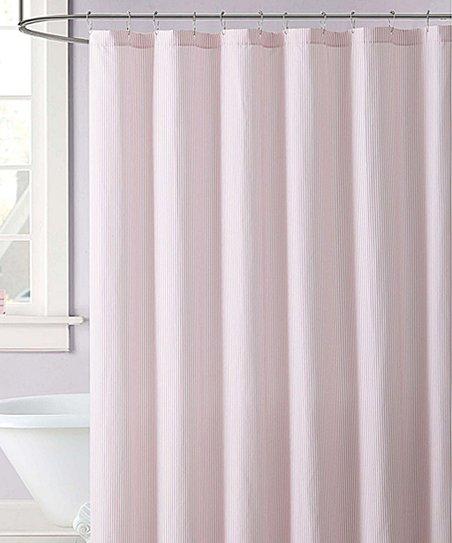 Laura Hart Pink Stripe Shower Curtain