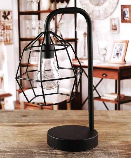 Circleware Round Cage Battery Operated Metal Table Lamp Zulily