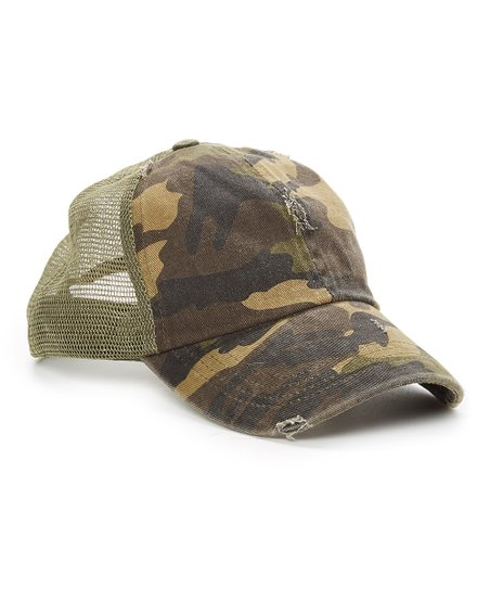David   Young Olive Camo Trucker Hat  1f9525b2ac