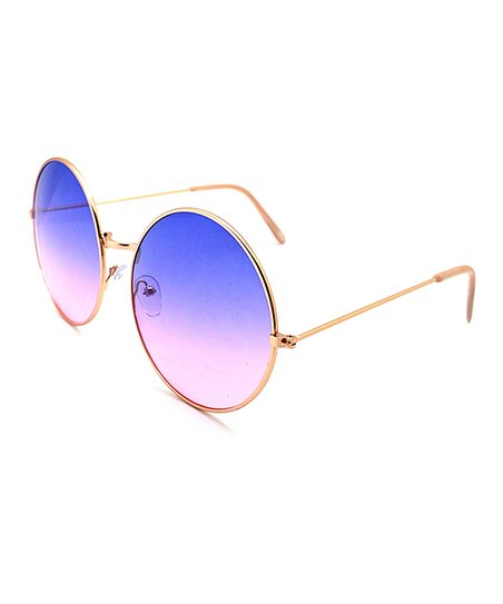 c16dabb2a83 Franco Sarto Rose Gold   Purple Gradient Round Sunglasses