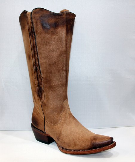 e1bd9a46b69 Tanner Mark Boots Distressed Sand Wide-Calf Cowgirl Boot