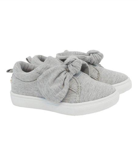 Heather Gray Bow Slip-On Sneaker