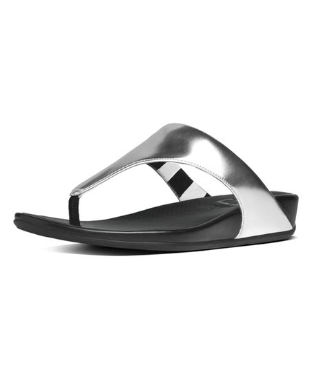 3808310034f383 love this product Silver Banda Leather Toe-Thong Sandal - Women
