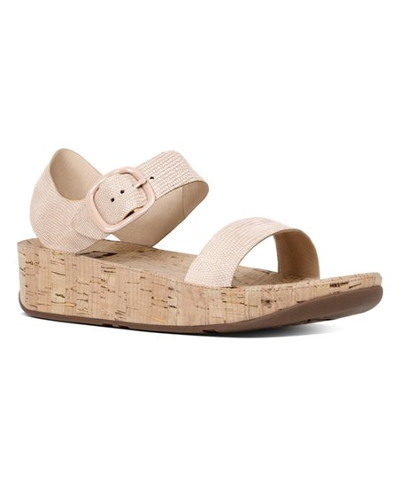 a736d2efe10 love this product Nude Pink Lizard-Print Bon Suede Sandal - Women
