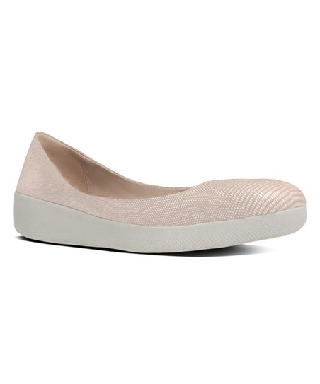 2b41b1edbcdd love this product Nude Pink Lizard-Print Superballerina Suede Flat - Women