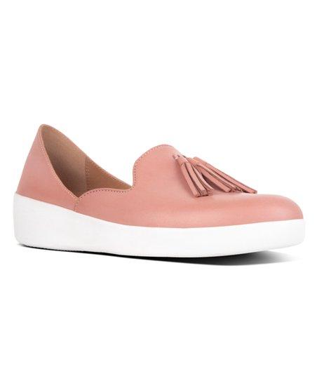 f848d3842a7 FitFlop Dusky Pink Tassel Superskate Leather DOrsay Loafer - Women ...