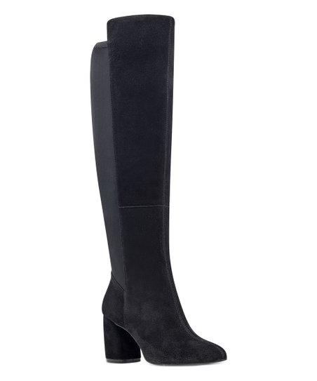3874ac6202b love this product Black Wide-Calf Kerianna Suede Over-the-Knee Boot - Women