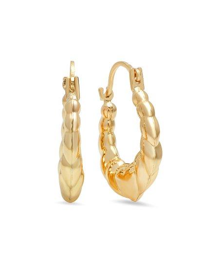Moricci 10k Hollow Gold Hoop Earrings Zulily