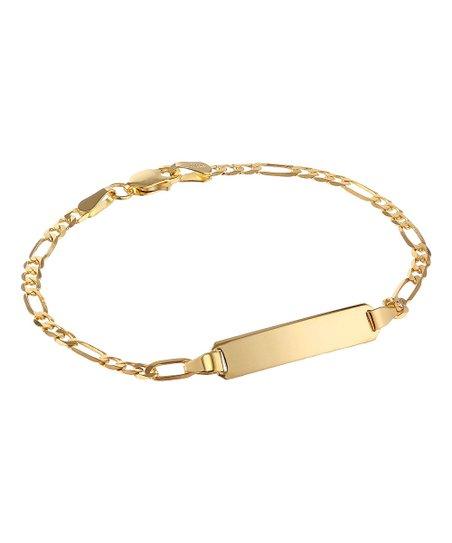 14k Figaro ID Bracelet