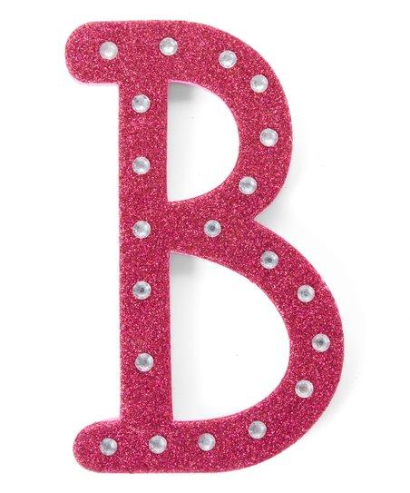 Hot Pink Glitter Foam Letter B Decor