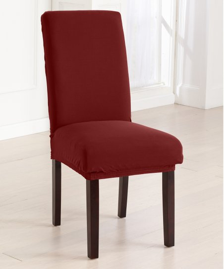 Wondrous Home Fashion Designs Burgundy Jersey Dining Chair Cover Gmtry Best Dining Table And Chair Ideas Images Gmtryco