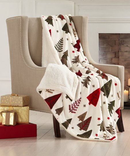 Home Fashion Designs Holiday Trees Faux Sherpa Velvet Reversible Plush Throw Best Price And Reviews Zulily
