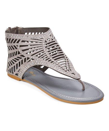 84a2ea249c0 Star Bay Gray Cutout Gladiator Sandal - Women