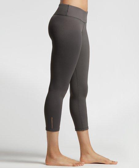 ba9bbbf745c502 love this product Slate Gray Core Compression Capri Leggings - Women & Plus