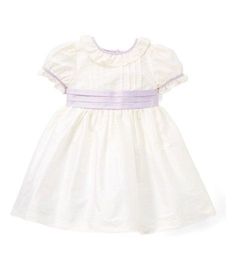 5c2c89f5e14 love this product Off-White   Lavender Tuxedo-Front A-Line Dress - Infant