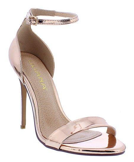 3c180340f5d4 Liliana Footwear Rose Gold Azela Sandal - Women