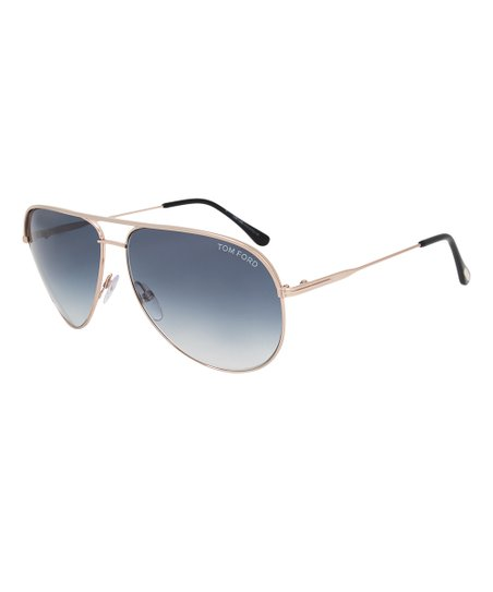 bcc7418eb Tom Ford Gold & Blue Gradient Erin Aviator Sunglasses | Zulily