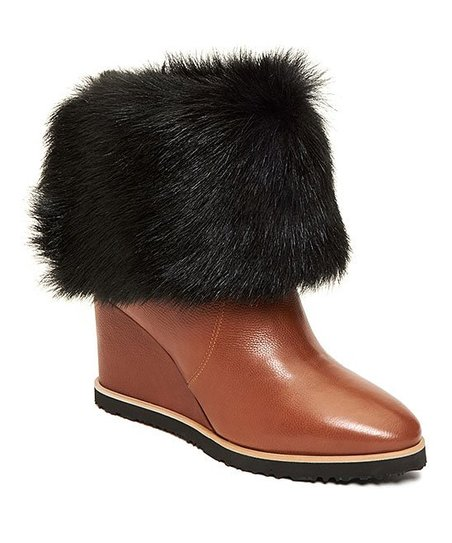 cec120d244d love this product Tan   Black Massima Leather   Shearling Boot - Women