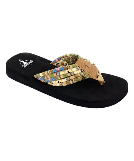 f38b968ae love this product Natural Shoe String Flip-Flop - Women