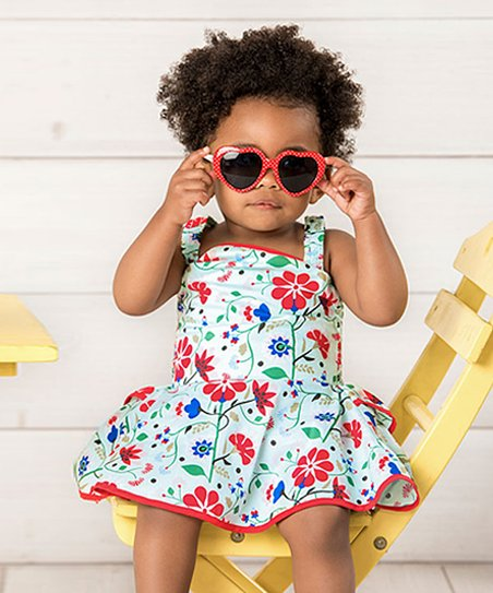 86d4e84a42ba love this product White   Red Floral Sleeveless Americana Bubble Romper -  Infant