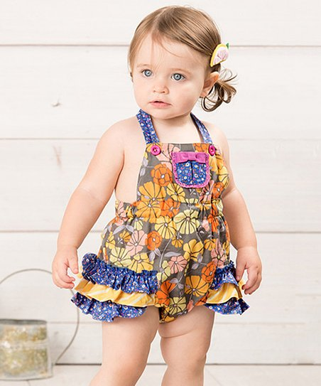 53c9afc1812c love this product Yellow   Blue Marco Polo Bubble Romper - Infant