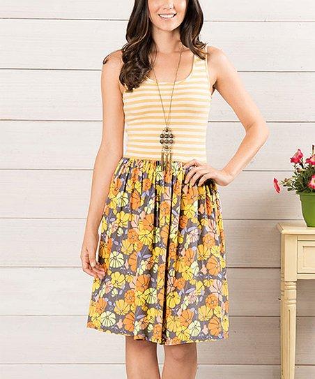 Matilda Jane Clothing Yellow Summer Sunset Dress - Women  b6b642eeaa