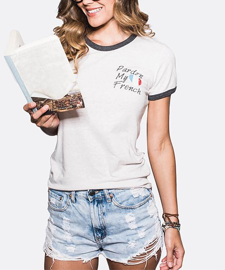 84ad5a4a Sugar clothing Sand & Gray Pardon My French Tee - Women | Zulily