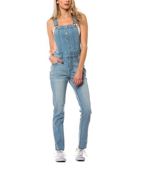 love this product Light Blue Denim Button-Front Overalls cd450e4132