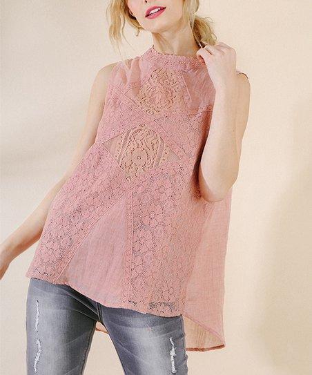 d1fb7cf7eabc98 love this product Blush Lace Sleeveless Top - Women