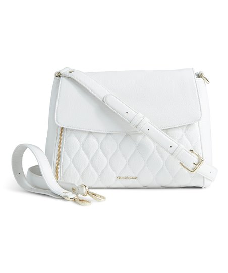 love this product White Quilted Cara Convertible Leather Crossbody Bag f1773e7d0a811