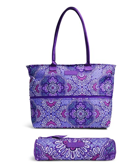 Vera Bradley Lilac Tapestry Lighten Up Expandable Travel Tote   On a ... 8b7015d7a3a33